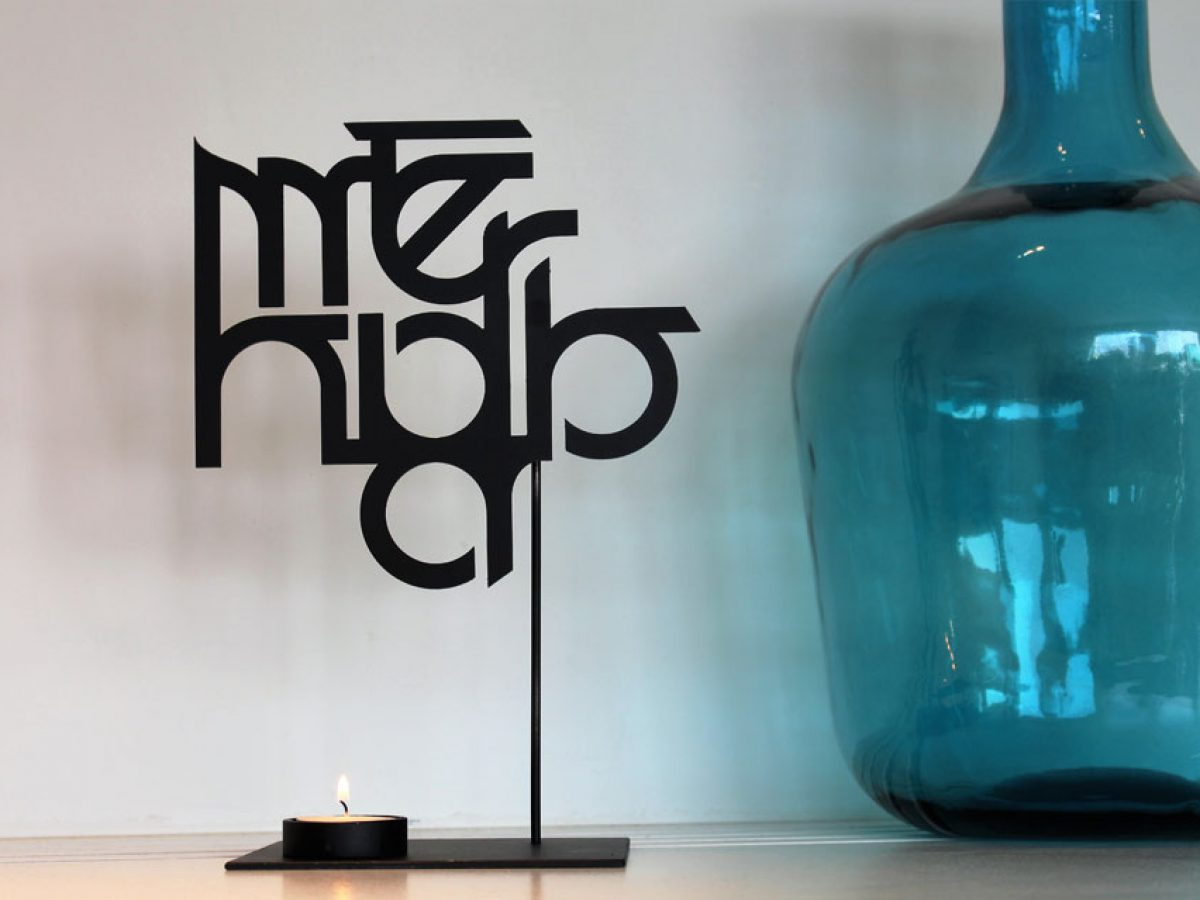 Merhaba candle holder